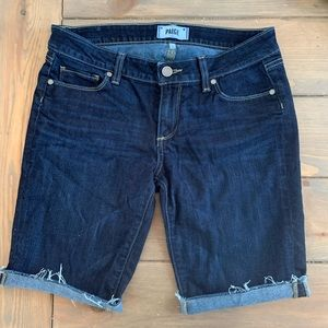 Paige brand Bermuda cuff jean shorts Warner wash